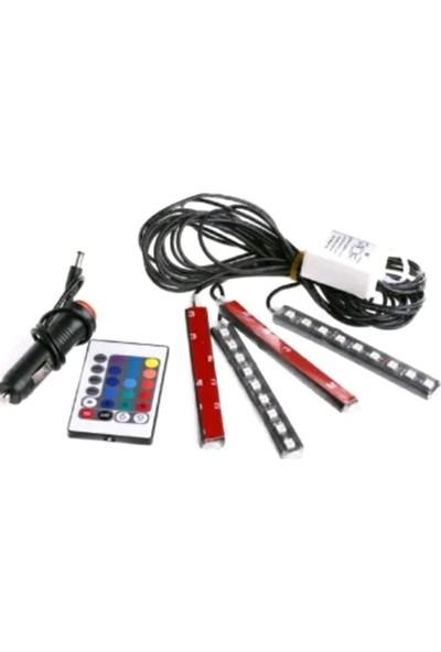 Cnk Oto Ayak Altı LED Kumandalı Araç Içi Aydınlatma / Sese Duyarlı Renk Değiştirme Özellikli