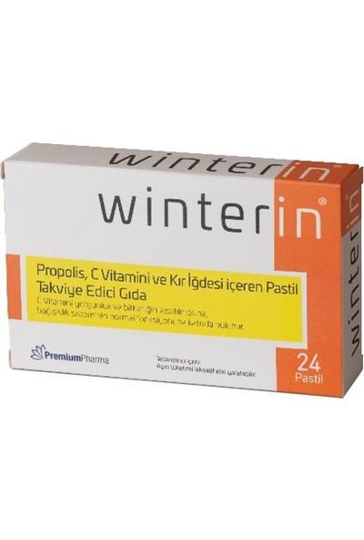 Winterin Propolis, C Vitamini ve Kır Iğdesi Içeren Pastil Takviye Edici Gıda