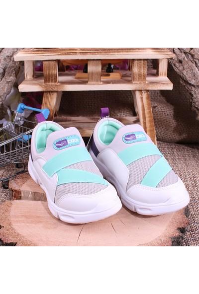 Akıllı Şirin Antibakteriyel Çocuk Yürüyüş Ayakkabısı Buz Mor