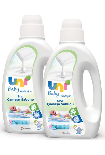 Unı Baby Yenidoğan Çamaşır Sabunu 1500 ml 2'li Set