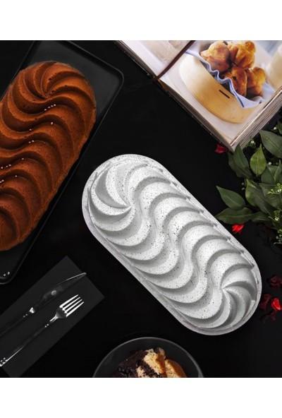 Taç Rüzgar Gülü Baton Döküm Kek Kalıbı Beyaz