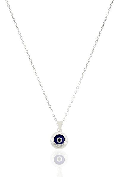 Takı Mağaza 925 Ayar Gümüş Nazar Boncuklu Kolye