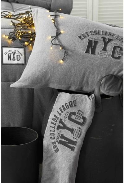 Karaca Home Toffee Gri Tek Kişilik Cotton Comfort Set