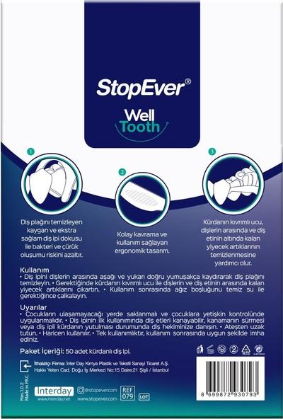 StopEver Kürdanlı Diş İpi 3'lü Paket 3 x 50 - 150 Adet