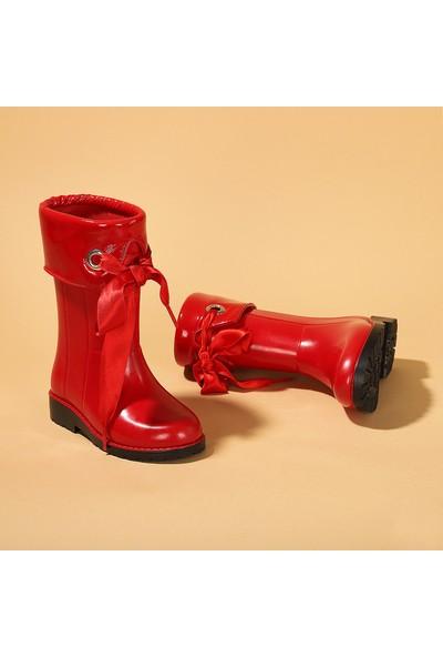 Igor W10114 Campera Charol Kız Çocuk Su Geçirmez Yağmur Kar Çizmesi Kırmızı