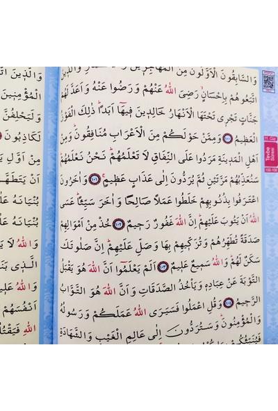 Mavi Renkli Arapça Rahle Boy Kuran-ı Kerim