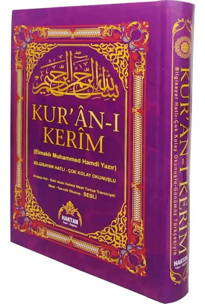 Türkçe Okunuşlu 5 Özellikli Satır Altı Kelime Mealli Cami Boy Kuran-ı Kerim Mor