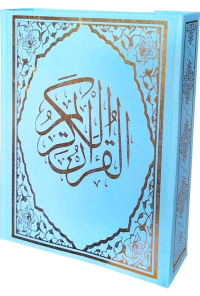 Mavi Renkli Arapça Orta Boy Kuran-ı Kerim