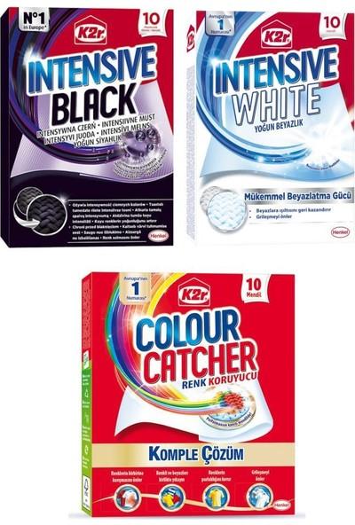 K2R Renk Koruyucu Mendil+Beyazlık+Siyahlık 10 Lu