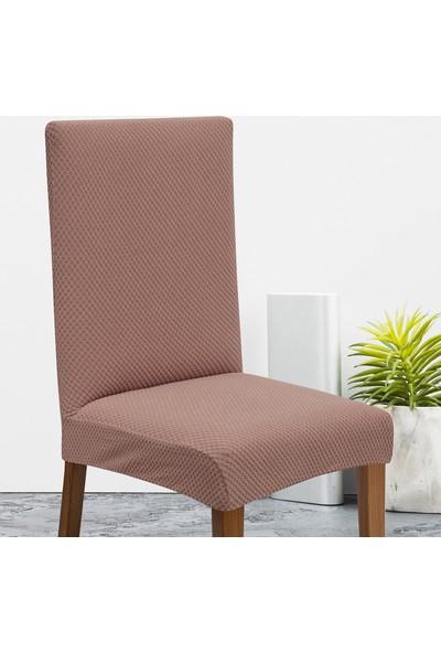 Latuda Likralı Yıkanabilir Rose Sandalye Kılıfı | Sandalye Örtüsü 6'lı