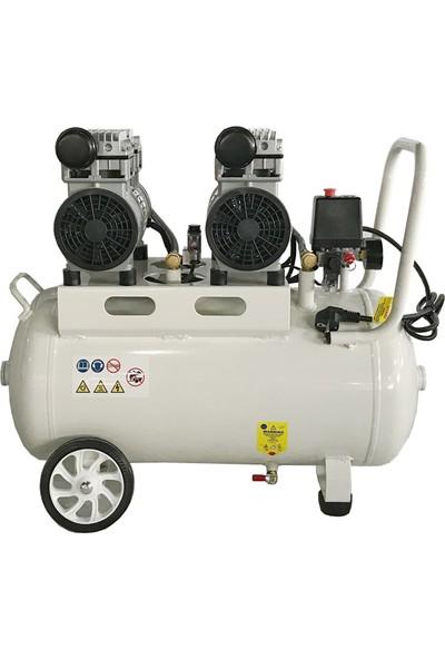 Power Sessiz ve Yağsız 50 lt - 2 Hp - 220 Volt - 8 Bar - Kompresör