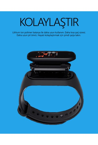 Reva Tech - M4 Adımsayar Akıllı Bileklik