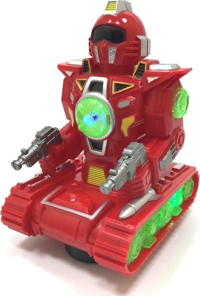 Beyazkuş Ticaret Sesli Işıklı Robot Yürüyen 8333