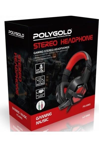PolyGold PG-6965 Oyuncu Kulaklık (Çift Jacklı)