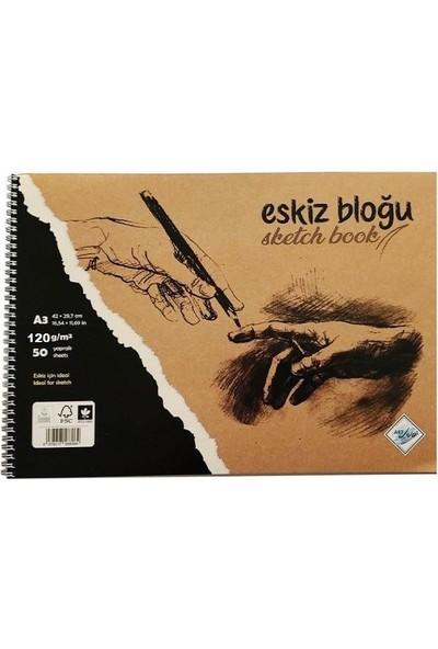 Art Liva Dokulu Eskiz Defteri 50 Sayfa A3 120 gr