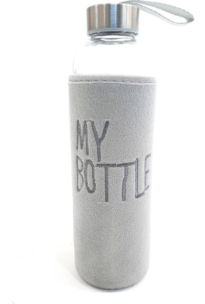 My Bottle Peluş Kılıflı Matara 600 ml Gri
