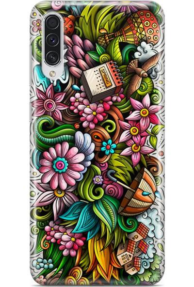 Lopard Samsung Galaxy A50s Kılıf Spring Doodle Arka Kapak Koruma Desenli Full Koruyucu