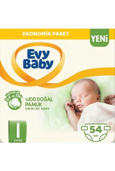 Evy Baby Bebek Bezi 1 Beden Yenidoğan 54'lü Yeni Paket