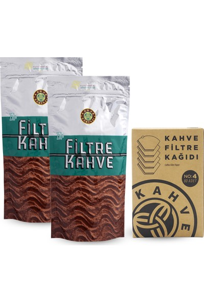 Kahve Dünyası Filtre Kahve 2'li + Filtre Kahve Kağıdı