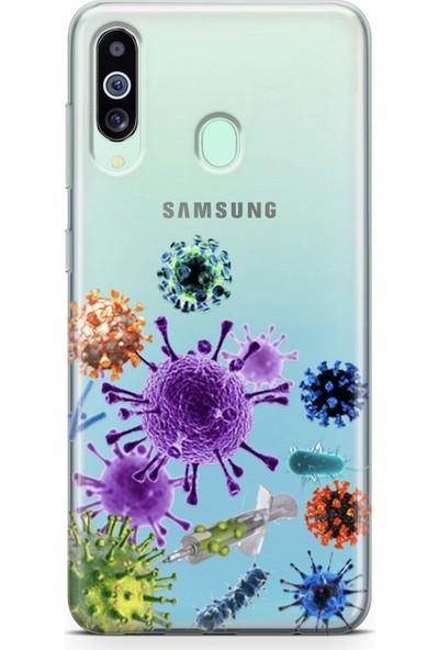 Lopard Samsung Galaxy M40 Kılıf Enjektör Ve Virusler Arka Kapak Koruma Desenli Full Koruyucu