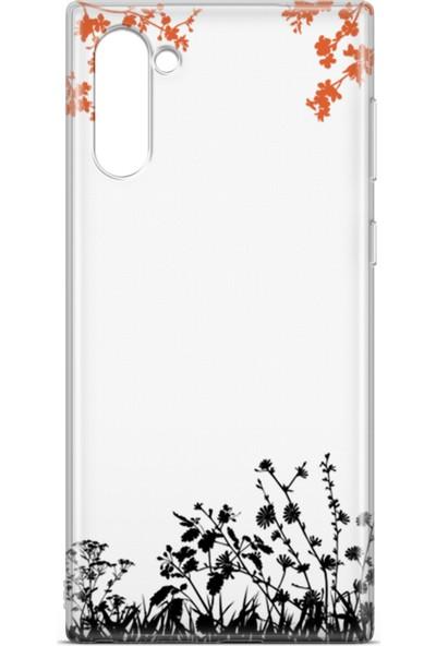 Lopard Samsung Galaxy Note 10 Kılıf Ot Bahçesi Arka Kapak Koruma Desenli Full Koruyucu