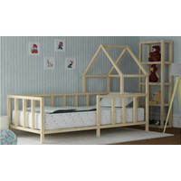 Zerka Feza Montessori Çocuk Yatak Ahşap Karyola Bebek Beşik