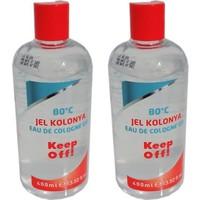 Mamazade Keep Off Jel Kolonya 400 ml 80 Derece - 2 Adet