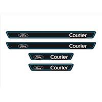 Ömr Dizayn Hediye Ford Courier Logolu 4'lü Kapı Eşiği Oto Aksesuar