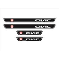 Ömr Dizayn Hediye Civic Logolu 4'lü Kapı Eşiği Oto Aksesuar