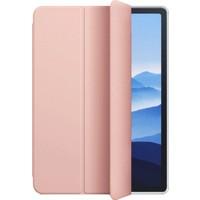 """Fibaks Apple iPad 8. Nesil (2020) 10.2"""" Kılıf + Kalem Uyku Modlu Smart Cover Arkası Renkli Sert P.c Katlanabilir Standlı Kapaklı Tablet Kılıfı Rose"""