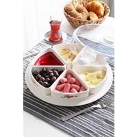 Vip Gross Vipgross 6 Bölmeli Yuvarlak Kahvaltılık