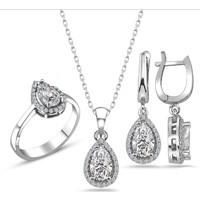 Else Silver Swarovski Sultanın Göz Yaşı Gümüş Takı Seti