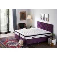 Niron Purple 160X200 Çift Kişilik Pedli Yaylı Yatak