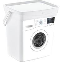 Arrita Home Q Box Deterjan Kutusu Makine Desen Beyaz