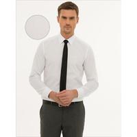Pierre Cardin Erkek Beyaz Slim Fit Basic Gömlek 50233527-VR013