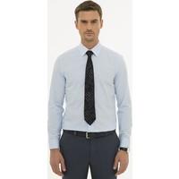Pierre Cardin Erkek Açık Mavi Slim Fit Basic Gömlek 50233527-VR003