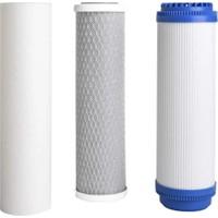 Pure Açık Kasa Su Arıtma Cihazı Için Çift Karbonlu Ön Filtre Takımı