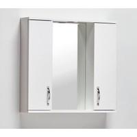 Artı Saydam Aynalı Üst Modül Mdf Banyo Dolabı 80 cm