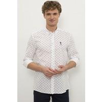 U.S. Polo Assn. Erkek Beyaz Gömlek Uzunkol 50231342-VR013