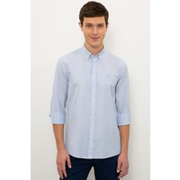 U.S. Polo Assn. Erkek Mavi Gömlek Uzunkol 50231299-VR036