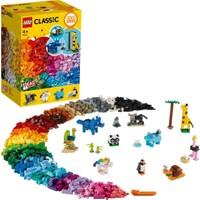 LEGO Classic 1500 Parçalık Yapım Parçaları ve Hayvan Figürü Kutusu (11011) - Çocuk Oyuncak Yapım Seti