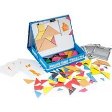 Kumtoys Şeklini Keşfet+Diytoy Manyetik Tablet Tangram 2'li Eğitici Oyun Seti