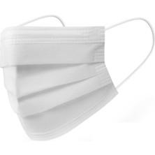 Fdmask Cerrahi Maske Telli 3 Katlı Full Ultrasonik Özel Meltblownlu Beyaz 100 Adet (10 Paket)