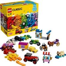 LEGO Classic 442 Parçalık Tekerlekli Yapım Parçaları Seti (10715) - Çocuk Oyuncak Yapım Seti