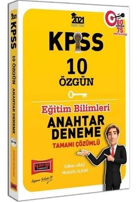 Yargı Yayınları 2021 KPSS Eğitim Bilimleri Tamamı Çözümlü 10 Özgün Anahtar Deneme - Mustafa Alkan
