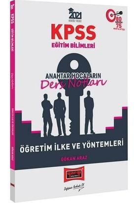 Yargı Yayınları 2021 KPSS Eğitim Bilimleri Öğretim İlke ve Yöntemleri Anahtar Hocaların Ders Notları - Gökhan Araz