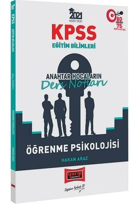 Yargı Yayınları 2021 KPSS Eğitim Bilimleri Öğrenme Psikolojisi Anahtar Hocaların Ders Notları - Hakan Araz