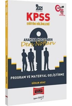 Yargı Yayınları 2021 KPSS Eğitim Bilimleri Program ve Materyal Geliştirme Anahtar Hocaların Ders Notları - Gökhan Araz
