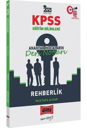 Yargı Yayınları 2021 KPSS Eğitim Bilimleri Rehberlik Anahtar Hocaların Ders Notları - Mustafa Alkan