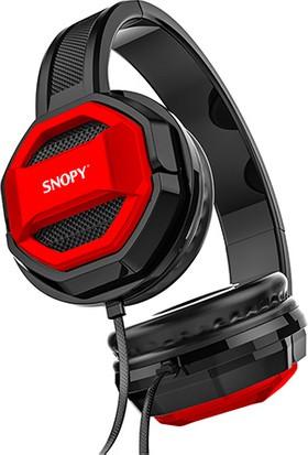 Snopy 01_BONNY Eba Uyumlu Kırmızı Tek Jack Pc-Telefon Mikrofonlu Kulaklık + Gaming Mouse Pad